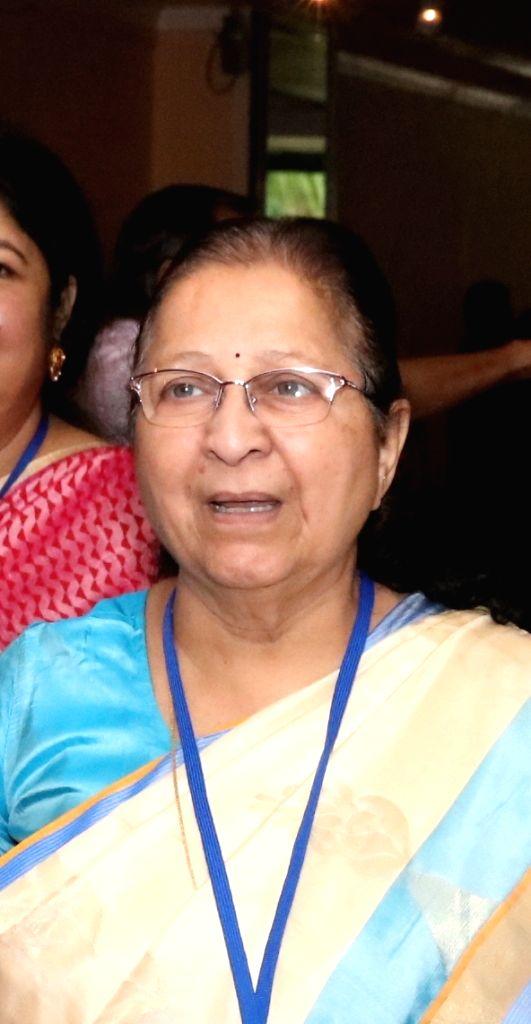 Lok Sabha Speaker Sumitra Mahajan during the 8th Conference of the Association of SAARC Speakers and Parliamentarians in Colombo, Sri Lanka on Oct 4, 2017. - Sumitra Mahajan
