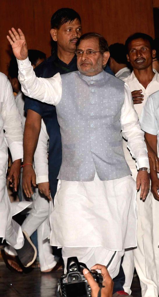 Loktantrik Janata Dal leader Sharad Yadav during a programme organised on the death anniversary of Ram Manohar Lohia on his death anniversary, in Patna on Oct 12, 2019. - Sharad Yadav