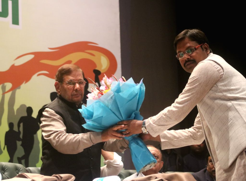 Loktantrik Janata Dal (LJD) leader Sharad Yadav during Yuva Adhikar Sammelan in New Delhi on Feb 12, 2019. - Sharad Yadav