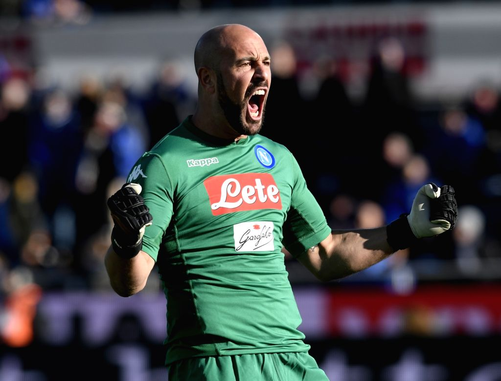 """London, April 1 (IANS) Former Liverpool goalkeeper Pepe Reina has said he was unable to breathe for 25 minutes while struggling with coronavirus symptoms in what he describes as """"endless minutes of fear"""". (Xinhua/Alberto Lingria/IANS)"""