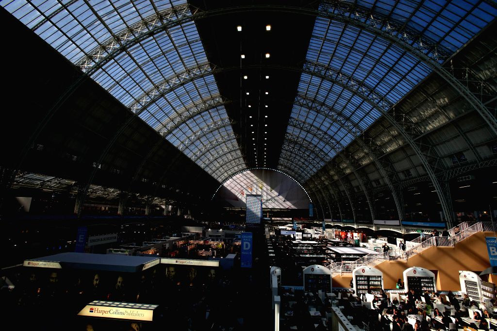 Photo take on April 14, 2015 shows a general view of the London Book Fair in Olympia, London, Britain. The London Book Fair will be held here from April 14 to 16. ...