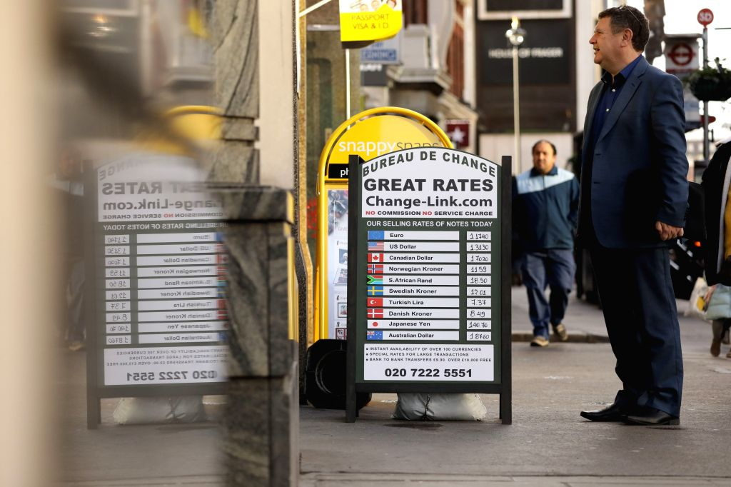 LONDON, Dec. 13, 2019 - A board of a currency exchange is seen in London, Britain, on Dec. 13, 2019. British Prime Minister Boris Johnson's Conservative Party gained a landslide win on Friday in ... - Boris Johnso