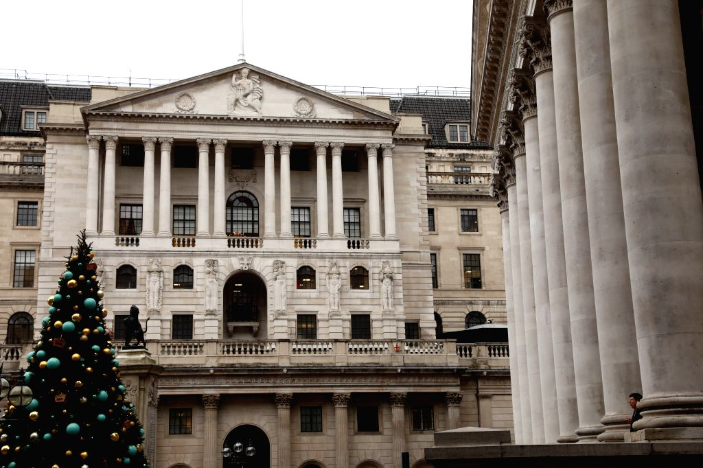 LONDON, Dec. 13, 2019 - Photo taken on Dec. 13, 2019 shows the Bank of England in London, Britain. British Prime Minister Boris Johnson's Conservative Party gained a landslide win on Friday in ... - Boris Johnso