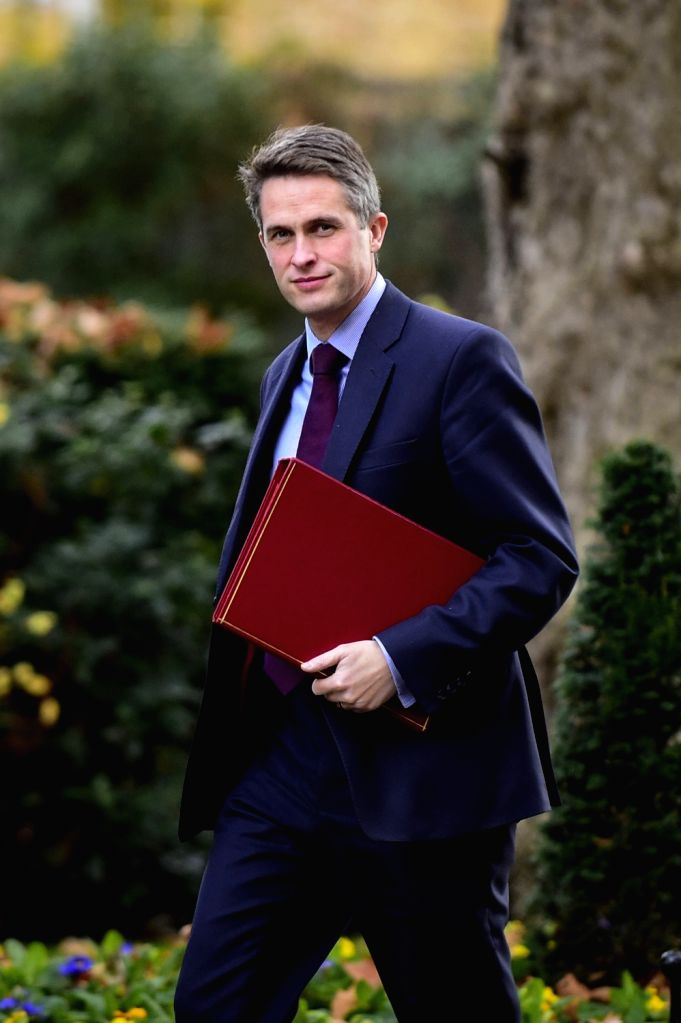 LONDON, Dec. 4, 2018 - British Secretary of State for Defence Gavin Williamson arrives at 10 Downing Street for a cabinet meeting in London, Britain on Dec. 4, 2018. British MPs on Tuesday voted by ...