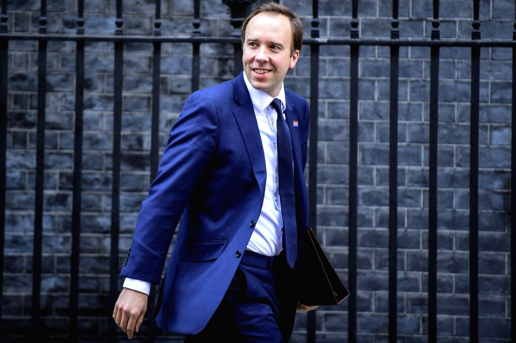 LONDON, Dec. 4, 2018 - British Secretary of State for Health and Social Care Matt Hancock leaves 10 Downing Street after a cabinet meeting in London, Britain on Dec. 4, 2018. British MPs on Tuesday ...