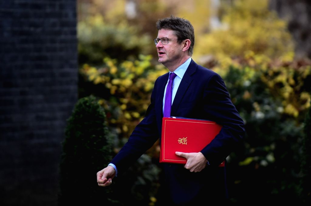 LONDON, Dec. 4, 2018 - Greg Clark, British Secretary of State for Business Energy and Industrial Strategy, arrives at 10 Downing Street for a cabinet meeting in London, Britain on Dec. 4, 2018. ...