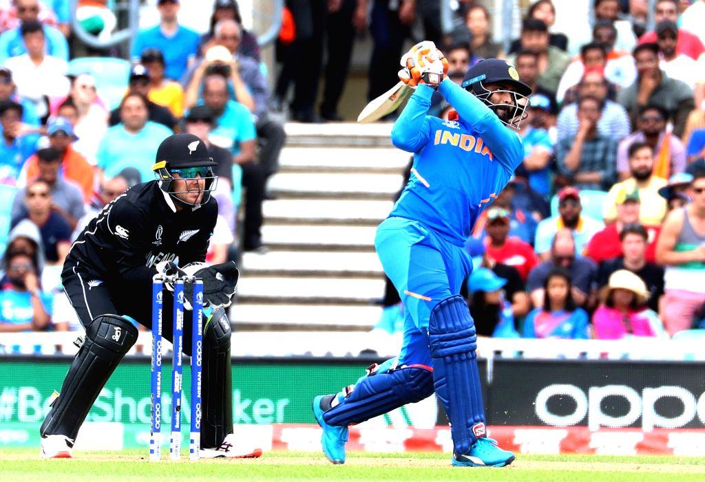 London: India's Ravindra Jadeja in action during the first warm-up match between India and New Zealand at the Kennington Oval,  London on May 25, 2019. (Photo: IANS) - Ravindra Jadeja