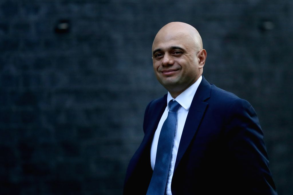 LONDON, Jan. 9, 2019 (Xinhua) -- Britain's Home Secretary Sajid Javid arrives for a cabinet meeting at 10 Downing Street in London, Britain on Jan. 8. 2019. British government confirmed Tuesday that a delayed parliamentary vote on the Brexit deal wil