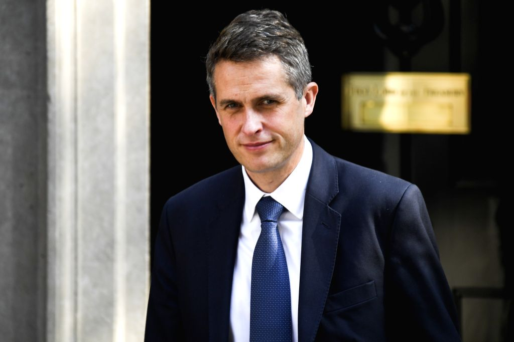 LONDON, July 25, 2019 - Britain's Education Secretary Gavin Williamson leaves 10 Downing Street after attending a cabinet meeting in London, Britain, on July 25, 2019.