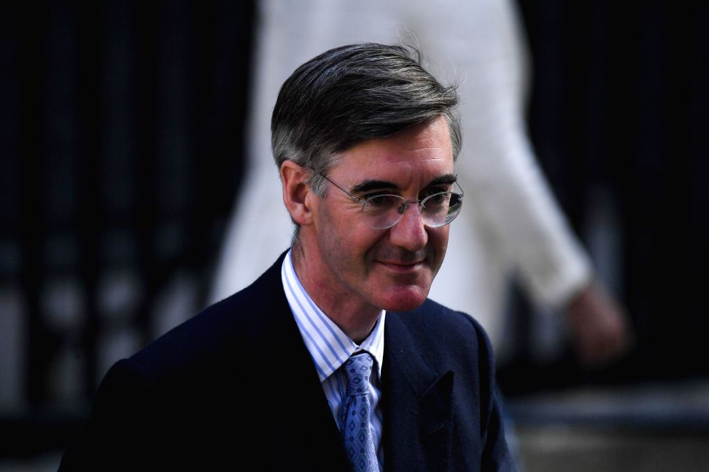LONDON, July 25, 2019 - Britain's er of the House of Commons Jacob Rees-Mogg leaves 10 Downing Street after attending a cabinet meeting in London, Britain, on July 25, 2019.