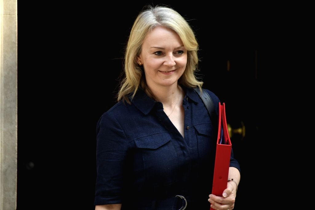 LONDON, July 25, 2019 - Britain's International Trade Secretary Liz Truss leaves 10 Downing Street after attending a cabinet meeting in London, Britain, on July 25, 2019.