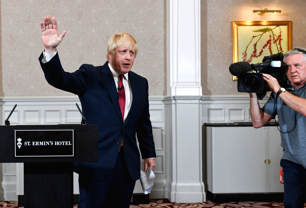 LONDON, June 30, 2016 - Former London mayor Boris Johnson announces that he will not be a contender in the race to become the next prime minister of Britain following David Cameron's decision to quit ...