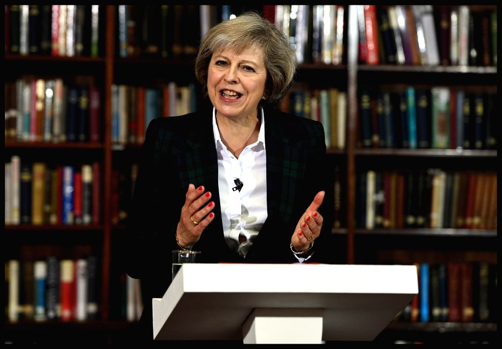 LONDON, June 30, 2016 - Home Secretary Theresa May launches her leadership campaign in London, Britain, June 30, 2016. Five contenders emerged Thursday in the race to become the next prime minister ...