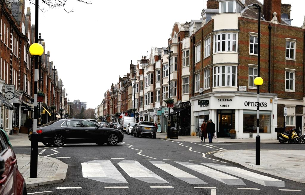 LONDON, March 1, 2019 - A 3D zebra crossing is seen in St. John's Wood High Street in London, Britain, on March 1, 2019. According to BBC, the UK's first 3D zebra crossing has been painted on a ...