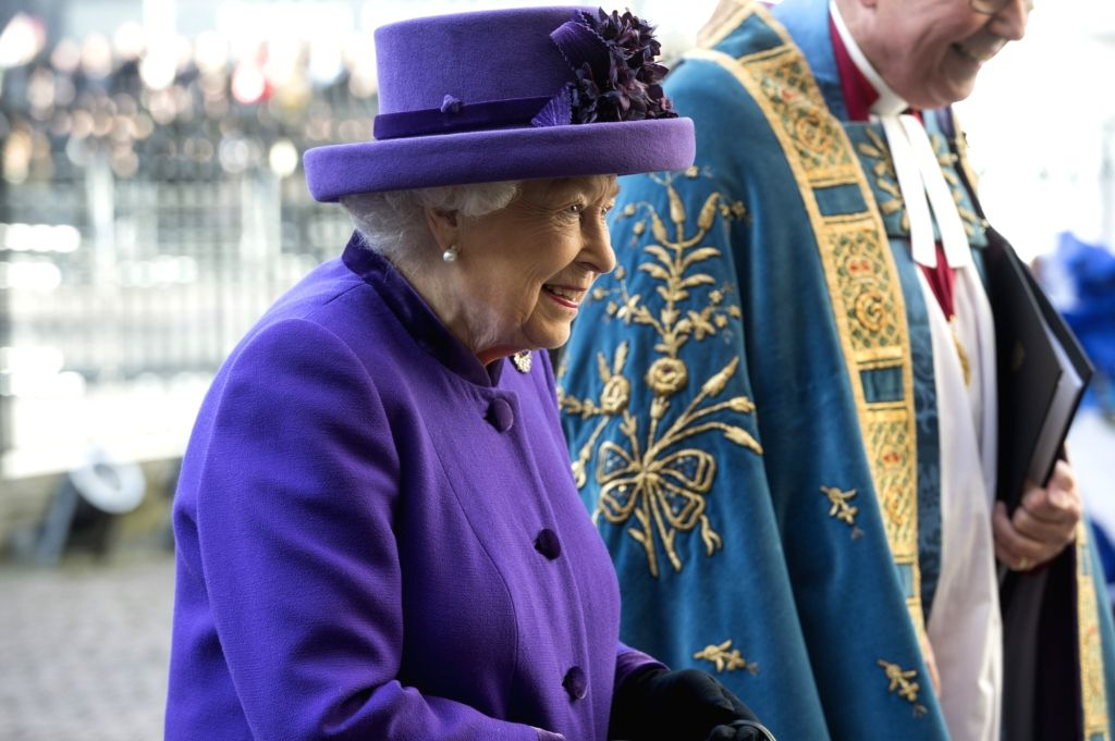 LONDON, March 11, 2019 - Britain's Queen Elizabeth II attends the Commonwealth Day celebrations at Westminster Abbey in London, Britain, on March 11, 2019.