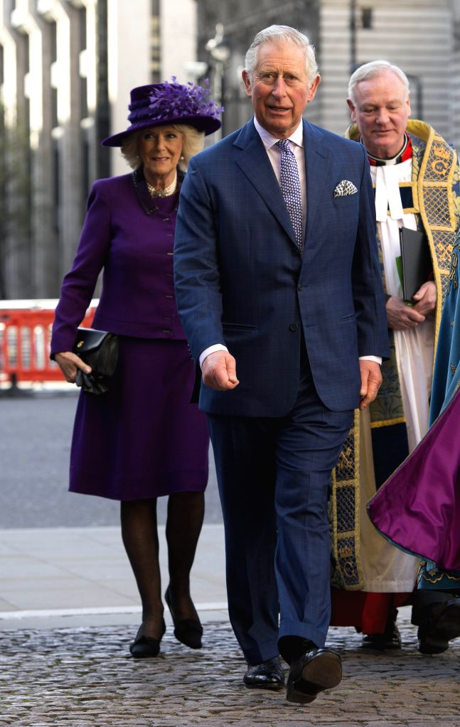 LONDON, March 13, 2017 - Prince Charles and Camilla, Duchess of Cornwall, attend the Commonwealth Day celebrations service at Westminster Abbey in London, Britain, on March 13, 2017.