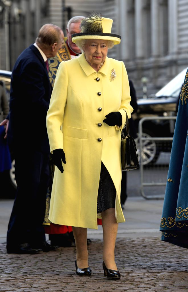 LONDON, March 13, 2017 - Queen Elizabeth II attends the Commonwealth Day celebrations service at Westminster Abbey in London, Britain, on March 13, 2017.