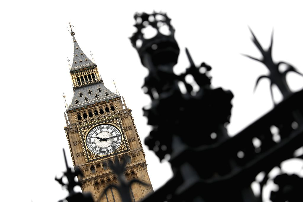 """LONDON, March 14, 2017 - Photo taken on March 14, 2017 shows the """"Big Ben"""" in central London, Britain. The British upper house of the Parliament passed the Brexit Bill Monday night, ..."""