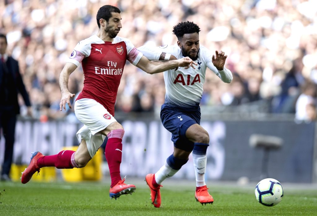 LONDON, March 2, 2019 - Tottenham Hotspur's Danny Rose (R) breaks through during the Premier League match between Tottenham Hotspur and Arsenal in London, Britain on March 2, 2019. FOR EDITORIAL USE ...