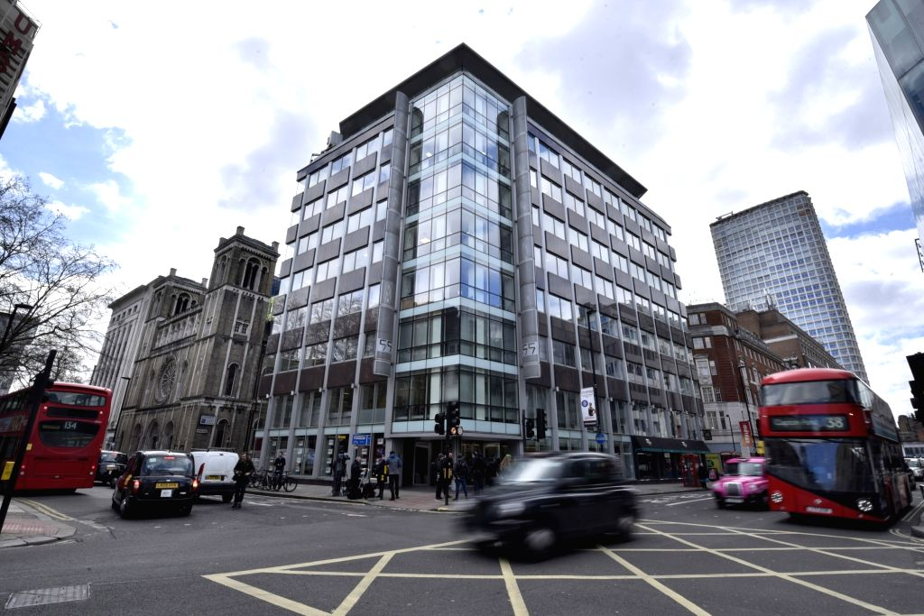 LONDON, March 20, 2018 - Photo taken on March 20, 2018 shows the exterior of the office building of Cambridge Analytica in London, Britain. Cambridge Analytica, a British consulting company, was ...