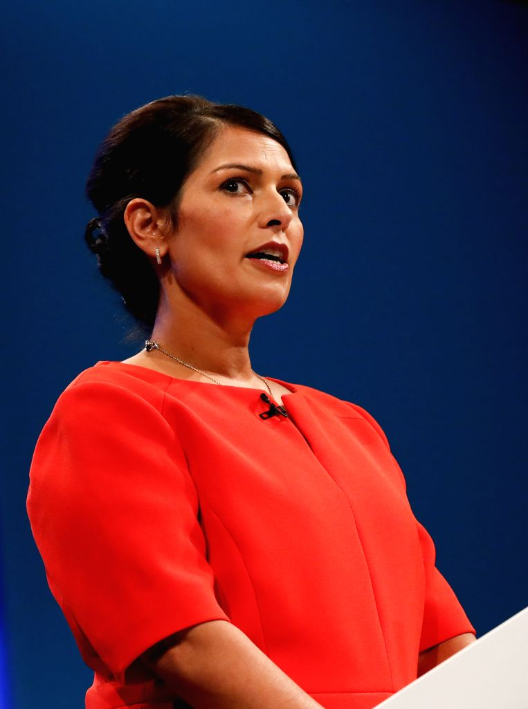 London, March 29 (IANS) UK Home Secretary Priti Patel has said that domestic abuse victims were still allowed to leave their homes to seek help despite restrictions on people's movements imposed by the British government due to the coronavirus pandem - Secretary Priti Patel