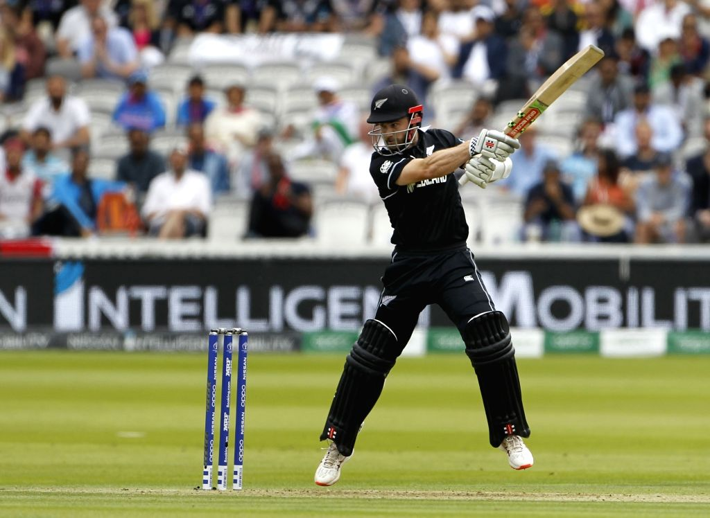 London: New Zealand's skipper Kane Williamson in action during the final match of the 2019 World Cup between New Zealand and England at the Lord's Cricket Stadium in London, England on July 14, 2019. (Photo: Surjeet Yadav/IANS) - Surjeet Yadav