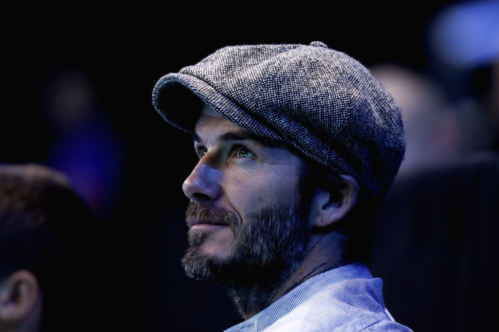 LONDON, Nov. 18, 2016 - David Beckham watches a match at the 2016 ATP World Tour Final at the O2 in London, Britain, on Nov. 17, 2016.