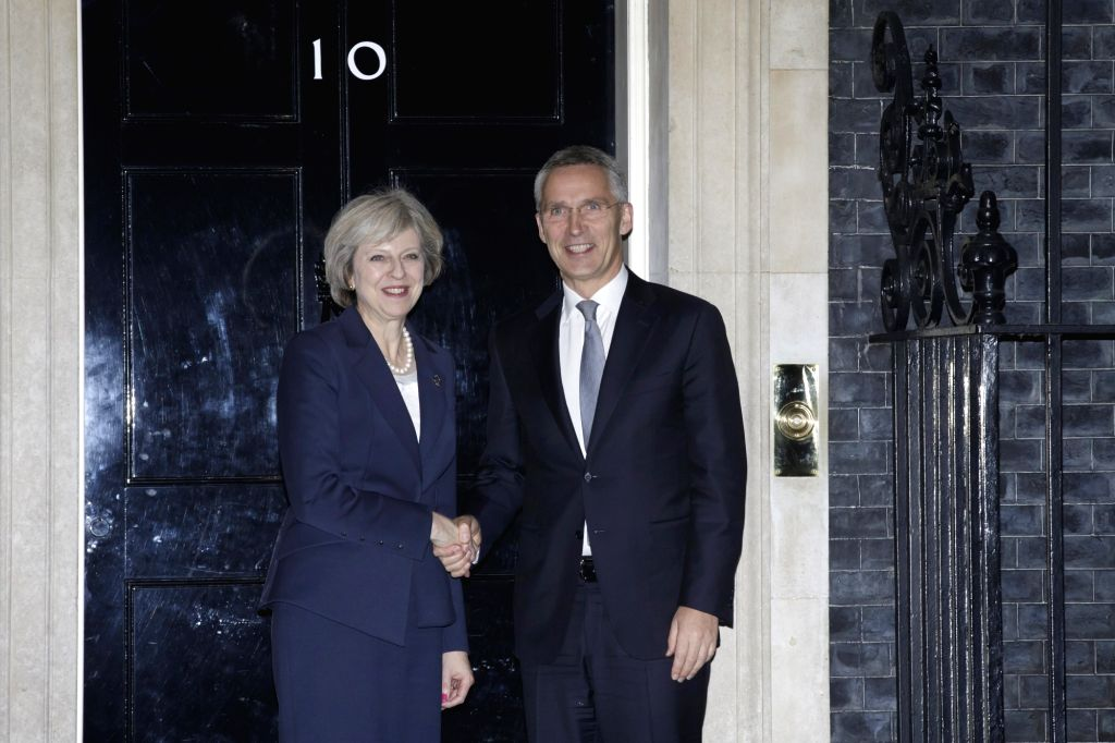 LONDON, Nov. 24, 2016 - British Prime Minister Theresa May (L) meets with NATO Secretary General Jens Stoltenberg at Number 10 Downing Street in London Nov. 23, 2016. - Theresa May