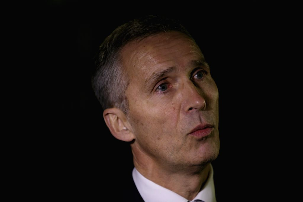 LONDON, Nov. 24, 2016 - NATO Secretary General Jens Stoltenberg speaks to reporters after meeting with British Prime Minister Theresa May at Number 10 Downing Street in London Nov. 23, 2016. - Theresa May