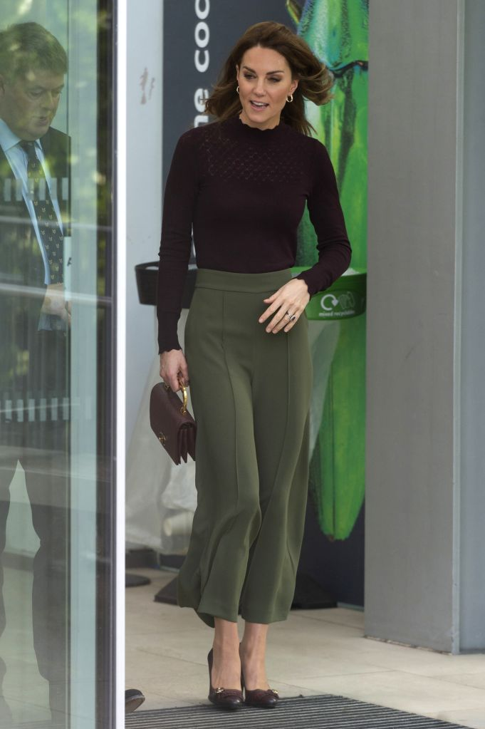 LONDON, Oct. 9, 2019 - Duchess of Cambridge Catherine is seen during a visit to the Angela Marmont Centre for UK Biodiversity at the Natural History Museum in London, Britain, on Oct. 9, 2019.