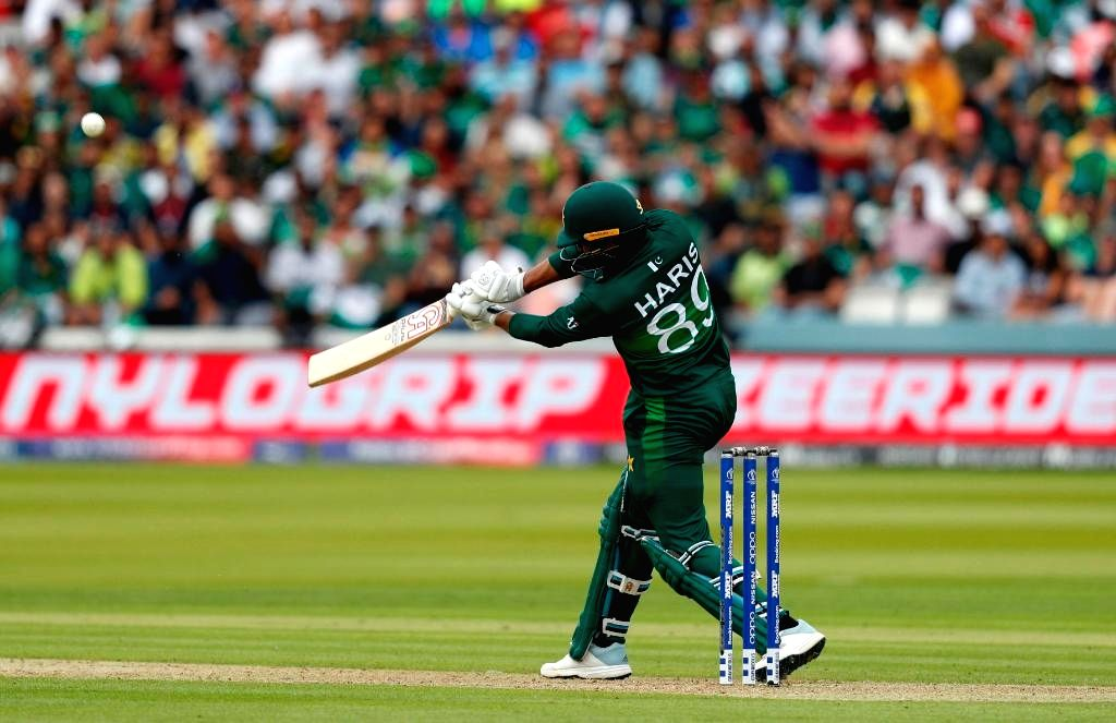 London: Pakistan's Haris Sohail in action during the 30th match of 2019 World Cup between South Africa and Pakistan at Lord's Cricket Ground in London, England on June 23, 2019. (Photo Credit: Twitter/@ICC)