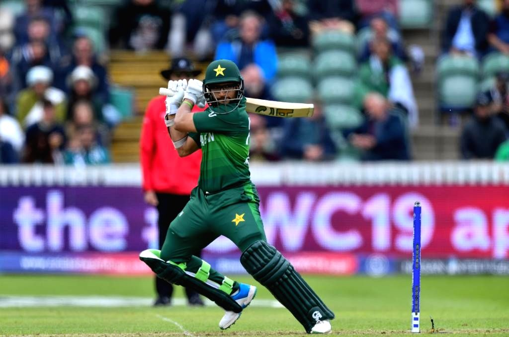 London: Pakistan's Imam-ul-Haq in action during the 27th match of 2019 World Cup between Bangladesh and Pakistan at Lord's Cricket Ground in London, England on July 5, 2019. (Photo Credit: Twitter/@cricketworldcup)