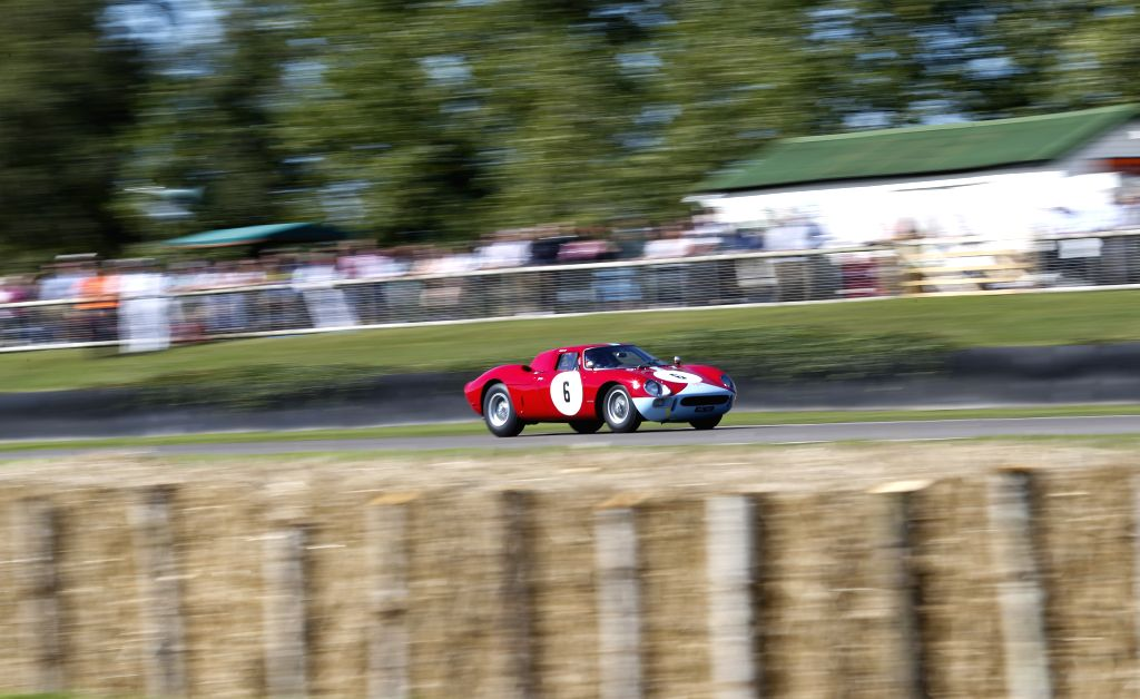LONDON, Sept. 12, 2016 - A vintage race car takes part in a race at the Goodwood Revival 2016 in Goodwood, south England, Sept. 11, 2016.