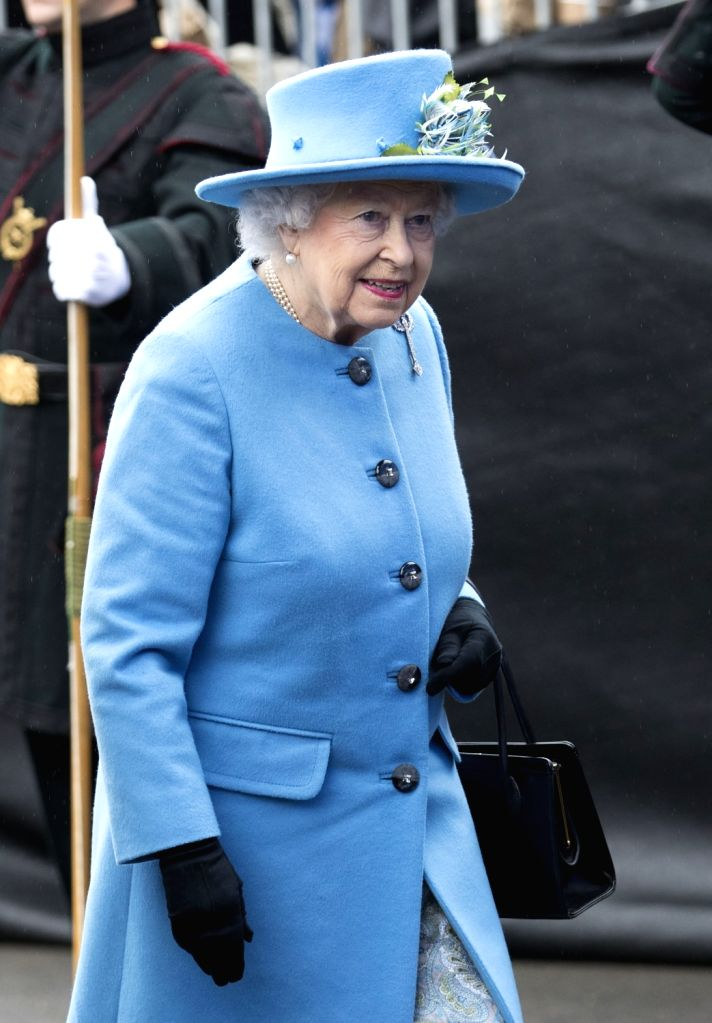LONDON, Sept. 4, 2017 - Britain's Queen Elizabeth II arrives at the official opening ceremony for the Queensferry Crossing, a new road bridge spanning the Firth of Forth from Queensferry to North ...