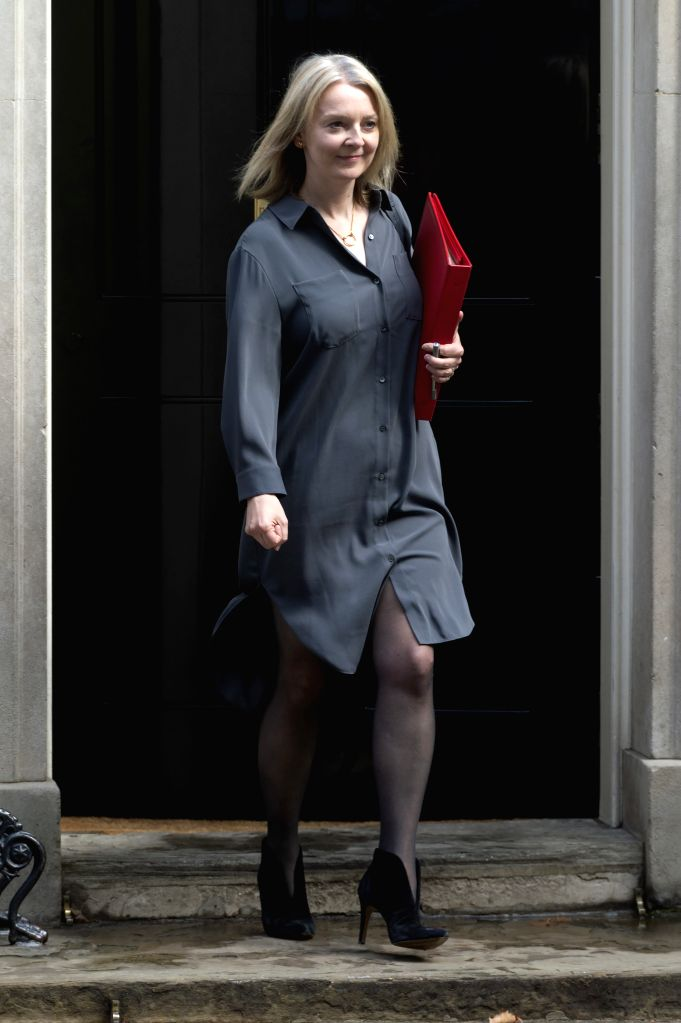 LONDON, Sept. 4, 2019 - Britain's Secretary of State for International Trade Liz Truss leaves 10 Downing Street after a cabinet meeting in London, Britain, on Sept. 4, 2019. British lawmakers on ... - Boris Johnson