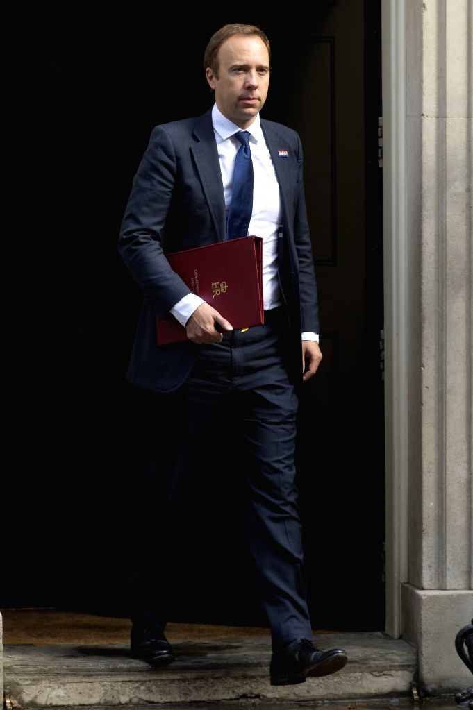LONDON, Sept. 4, 2019 - Britain's Secretary of State for Health and Social Care Matt Hancock leaves 10 Downing Street after a cabinet meeting in London, Britain, on Sept. 4, 2019. British lawmakers ... - Boris Johnson