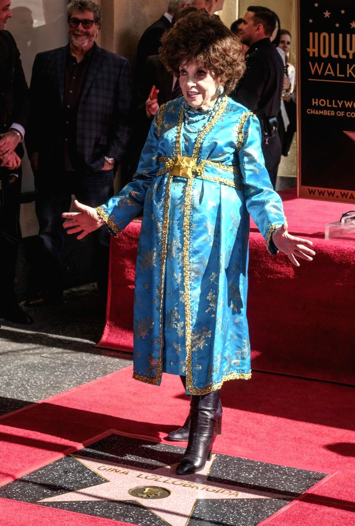 LOS ANGELES, Feb. 2, 2018 - Actress Gina Lollobrigida attends a star honoring ceremony on the Hollywood Walk of Fame in Los Angeles, the United States, Feb. 1, 2018. Gina Lollobrigida was honored ... - Gina Lollobrigida