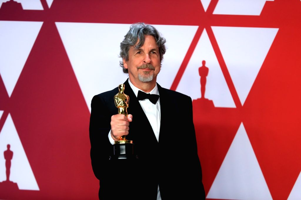 "LOS ANGELES, Feb. 25, 2019 - Director Peter Farrelly, winner of Best Picture and Best Original Screenplay for ""Green Book,"" poses for photos in the press room during the 91st Academy Awards ..."