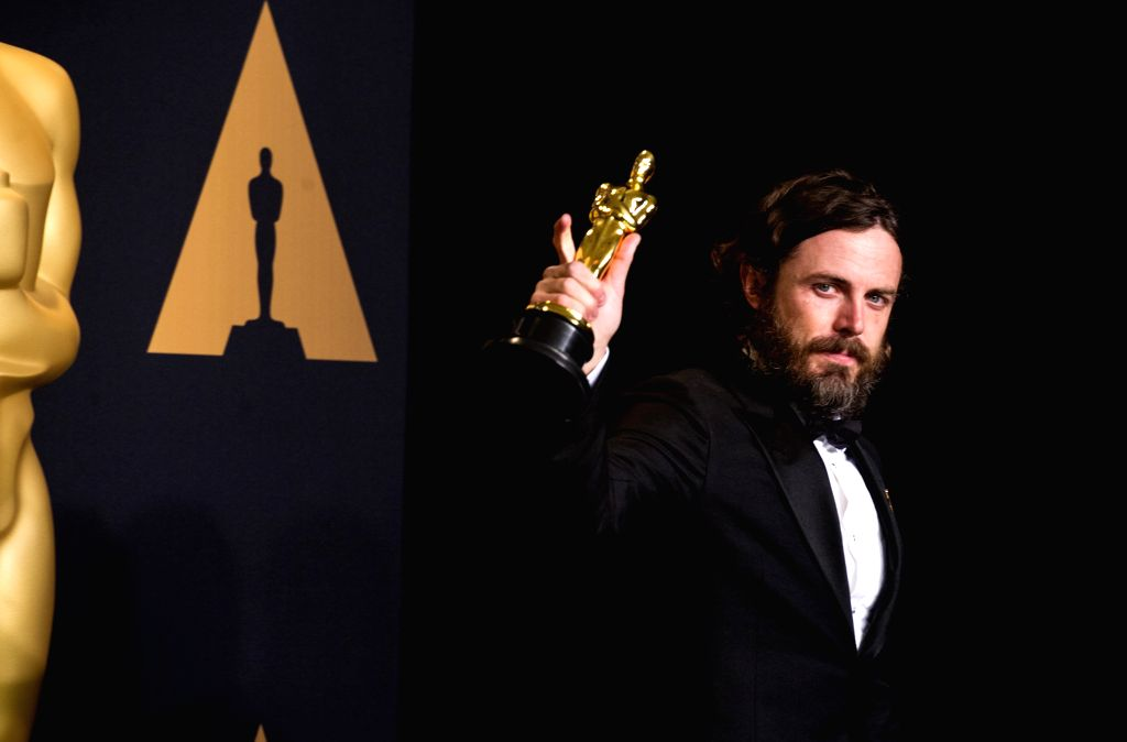 """LOS ANGELES, Feb. 27, 2017 - Actor Casey Affleck poses after winning the Best Actor award for his performance in """"Manchester by the Sea"""" at press room of the 89th Academy Awards at the ... - Casey Affleck"""
