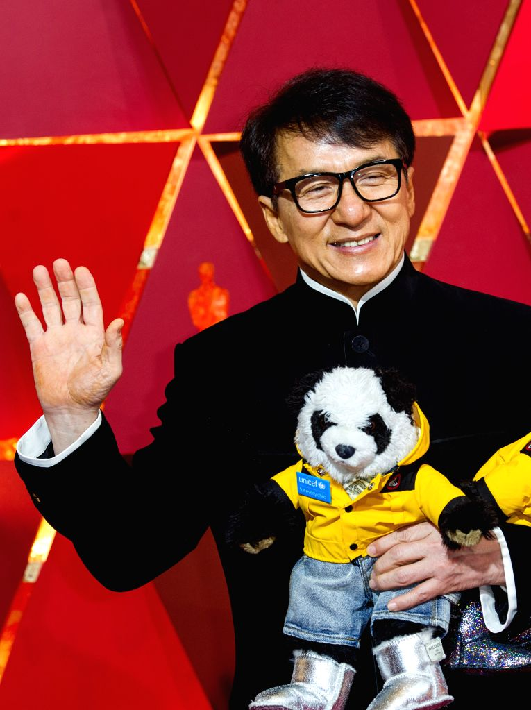 LOS ANGELES, Feb. 27, 2017 - Actor Jackie Chan arrives for the red carpet of the 89th Academy Awards at the Dolby Theater in Los Angeles, the United States, on Feb. 26, 2017. - Jackie Chan