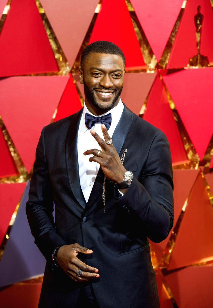 LOS ANGELES, Feb. 27, 2017 - U.S. actor Aldis Hodge arrives for the red carpet of the 89th Academy Awards at the Dolby Theater in Los Angeles, the United States, on Feb. 26, 2017. (Xinhua/Yang Lei) - Aldis Hodge