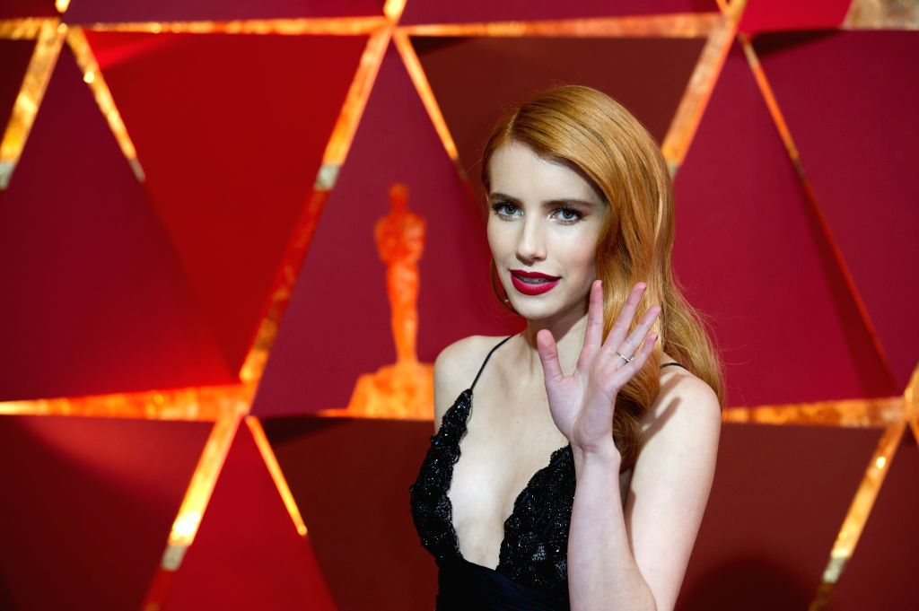 LOS ANGELES, Feb. 27, 2017 - U.S. actress Emma Roberts arrives for the red carpet of the 89th Academy Awards at the Dolby Theater in Los Angeles, the United States, on Feb. 26, 2017. - Emma Roberts