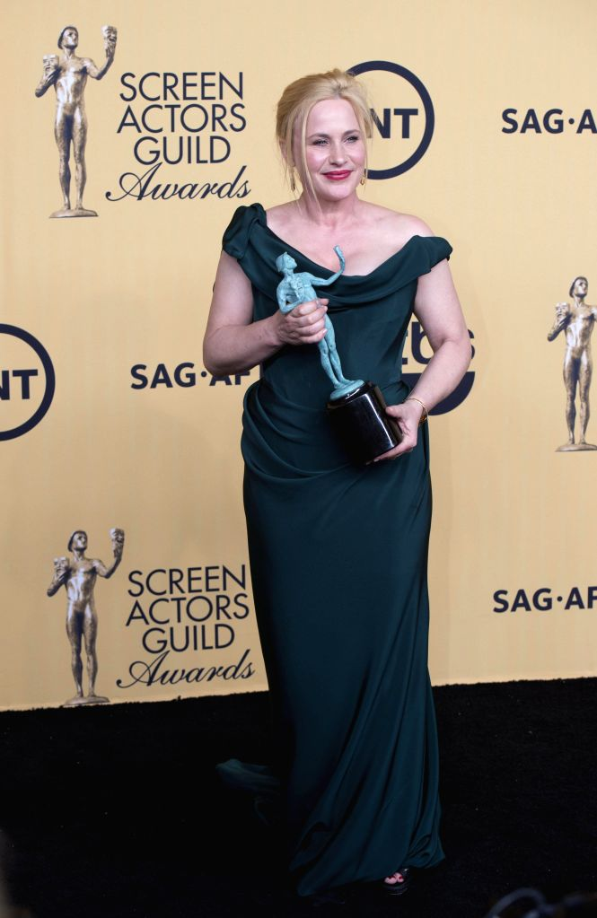Actress Patricia Arquette wins the Best Supporting Actress In Film at the 21st Annual Screen Actors Guild Awards at the Shrine Auditorium, in Los Angeles, ... - Patricia Arquette
