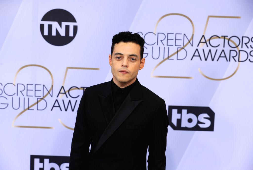 LOS ANGELES, Jan. 28, 2019 (Xinhua) -- Actor Rami Malek arrives for the 25th Annual Screen Actors Guild Awards at the Shrine Auditorium in Los Angeles, the United States on Jan. 27, 2019. (Xinhua/Li Ying/IANS) - Rami Malek and Guild Awards