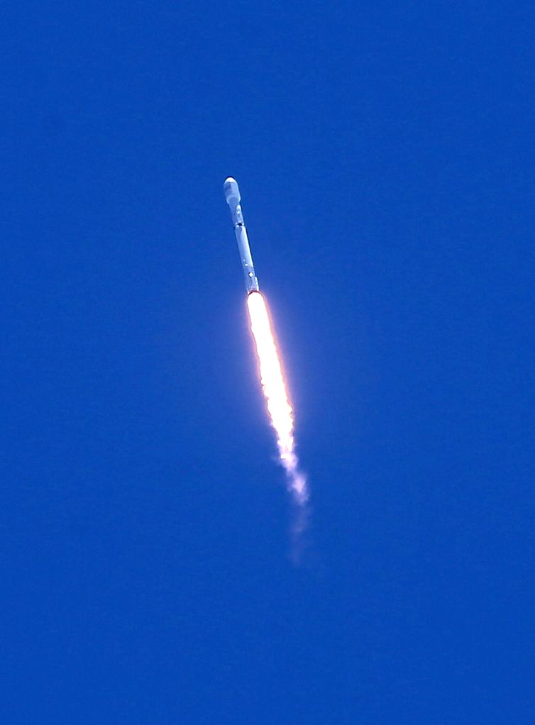 LOS ANGELES, June 26, 2017 - An SpaceX Falcon 9 rocket lifts off from the Vandenberg Air Force Base in California, the United States, June 25, 2017. Just over 48 hours after its successful launch of ...