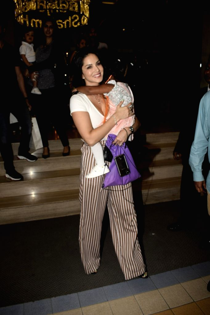 Los Angeles, June 6 (IANS) Sunny Leone's daughter Nisha attended her first ever horse-riding lesson, and proud mommy took to Instagram and posted a picture that captures the moment. (File Photo: IANS)