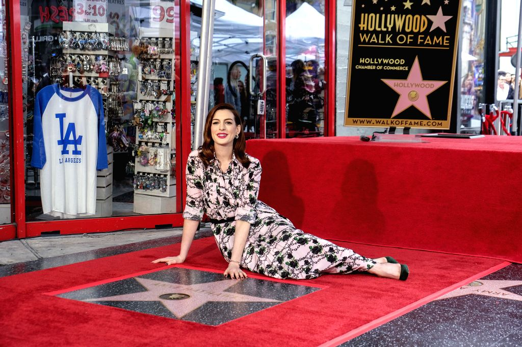 LOS ANGELES, May 10, 2019 - Actress Anne Hathaway attends her Hollywood Walk of Fame Star Ceremony in Los Angeles, the United States, May 9, 2019. - Anne Hathaway