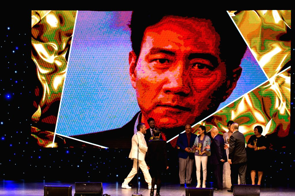 LOS ANGELES, Nov. 7, 2019 - Cast members of the films winning Golden Angel Award receive awards during the 15th Chinese American Film Festival (CAFF) and the Chinese American Television Festival ...