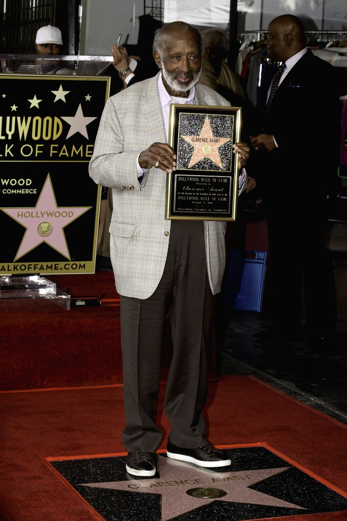 LOS ANGELES, Oct. 8, 2016 - Music executive Clarence Avant is honored a star on the Hollywood Walk of Fame in Hollywood, California, the United States, Oct. 7, 2016.