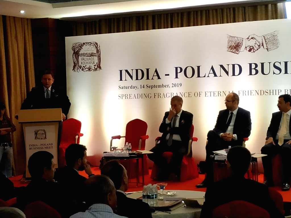 LOT Polish Airlines CEO Rafal Milczarski addresses during India-Poland Business Meet in Kolhapur, Maharashtra on Sep 14, 2019.
